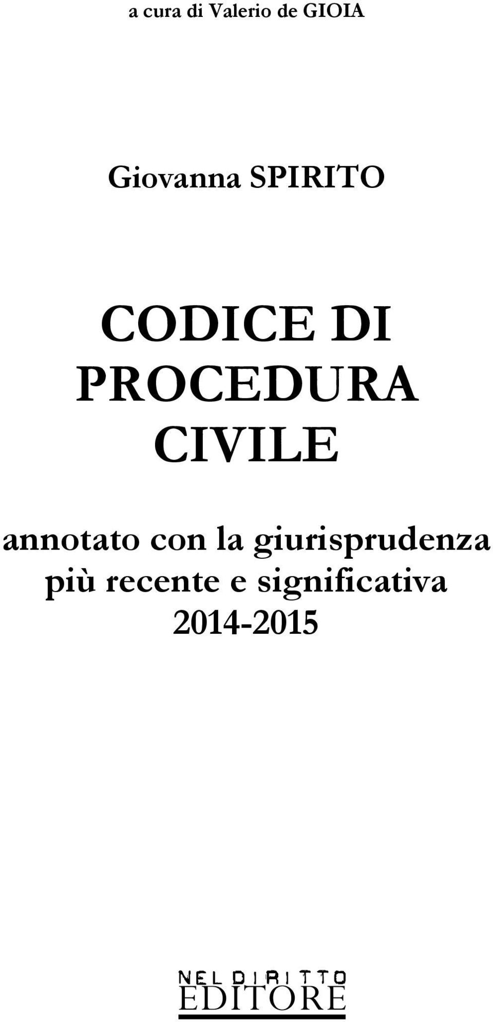 PROCEDURA CIVILE annotato con la