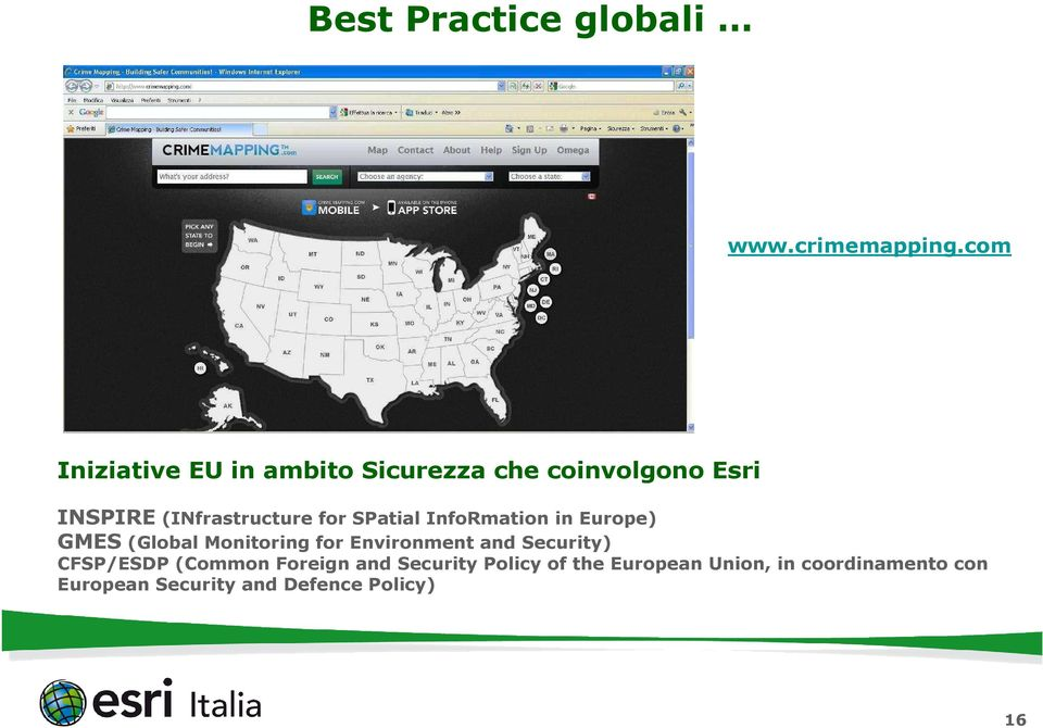 for SPatial InfoRmation in Europe) GMES (Global Monitoring for Environment and