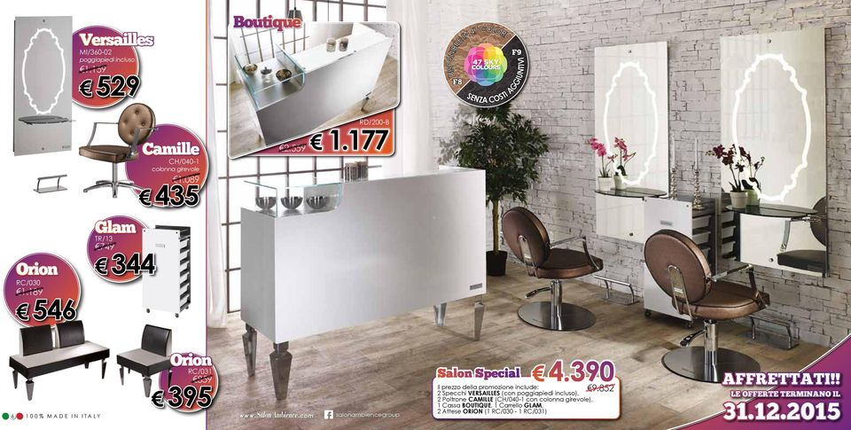 189 546 Glam TR/13 749 344 6 Orion RC/031 859 395 G salonambiencegroup Salon Special 4.