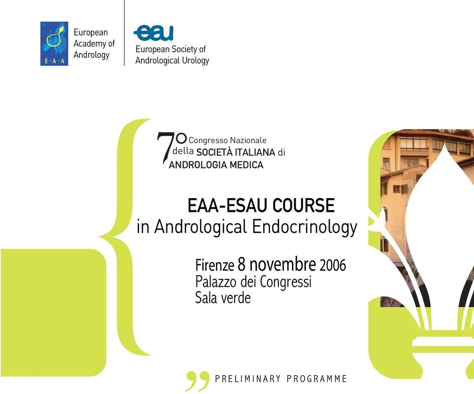 MEDICA EAA-ESAU COURSE in Andrological Endocrinology Firenze 8
