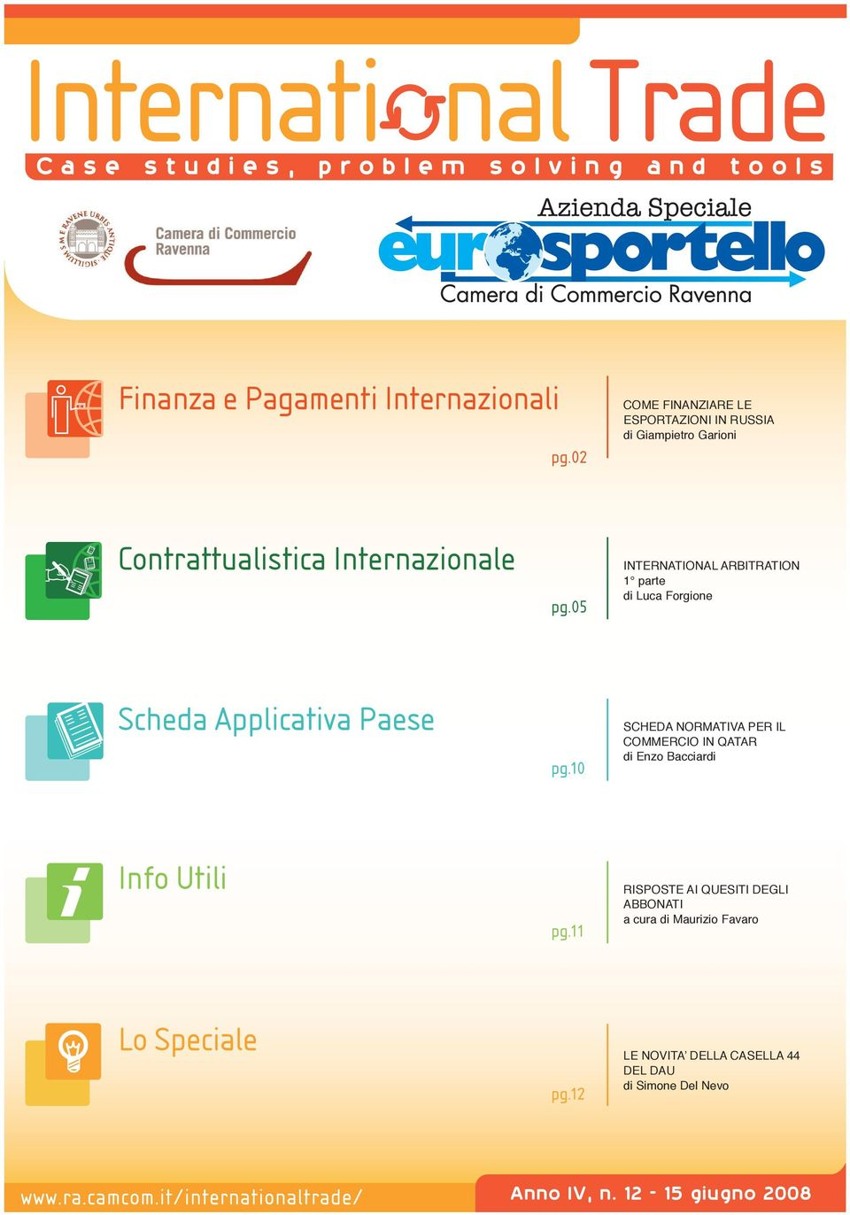 05 INTERNATIONAL ARBITRATION 1 parte di Luca Forgione Scheda Applicativa Paese pg.