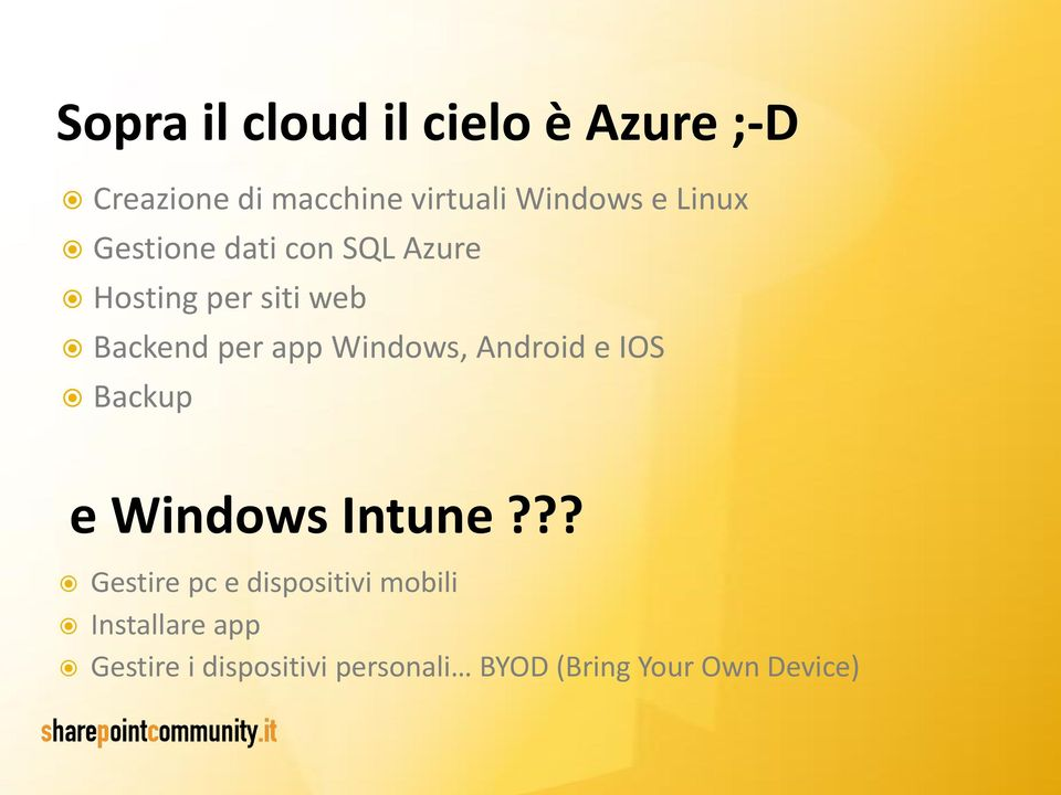 Windows, Android e IOS Backup e Windows Intune?