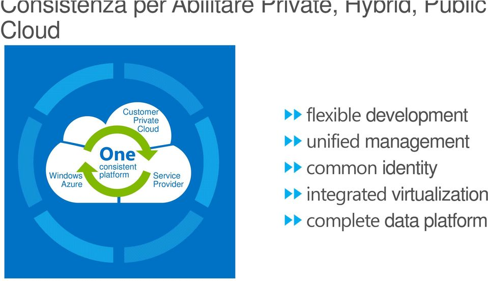 Cloud Service Provider flexible development unified