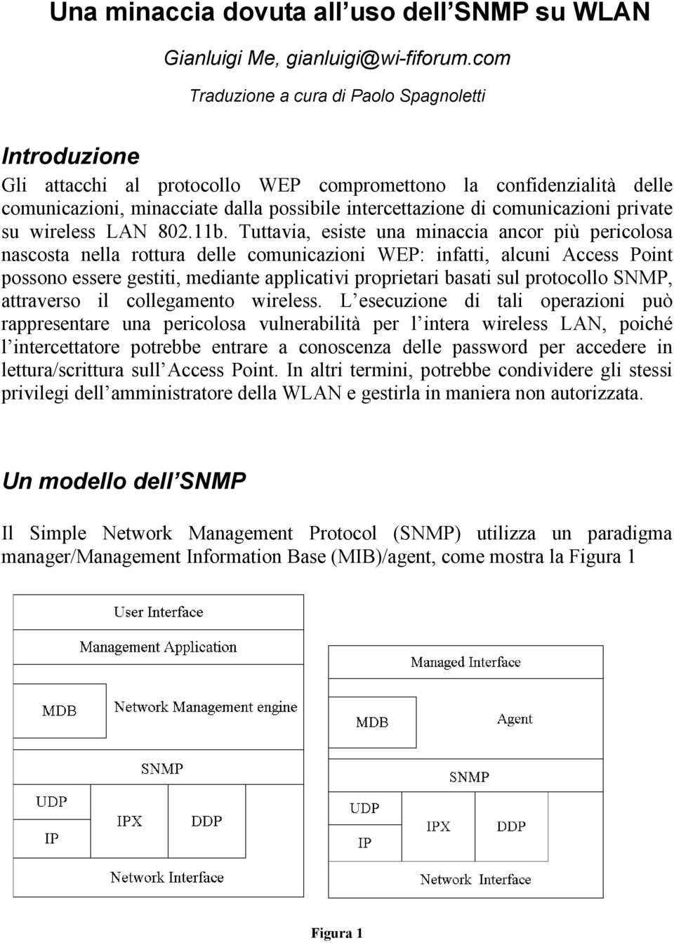 comunicazioni private su wireless LAN 802.11b.