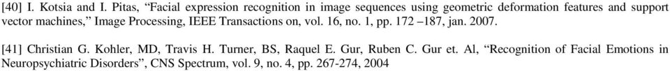 vector machines, Image Processing, IEEE Transactions on, vol. 16, no. 1, pp. 172 187, jan. 2007.