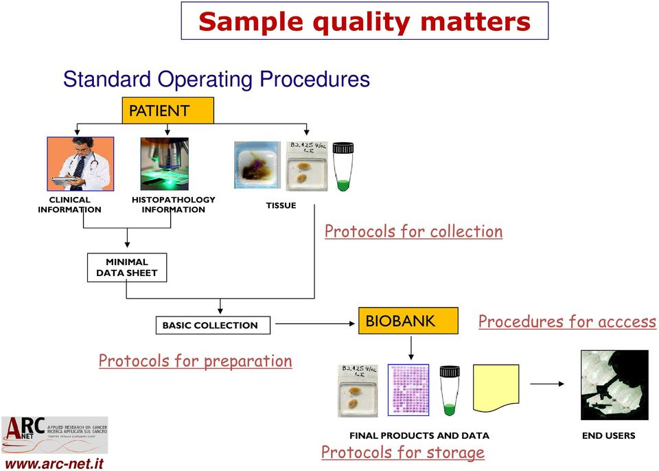 MINIMAL DATA SHEET BASIC COLLECTION Protocols for preparation BIOBANK