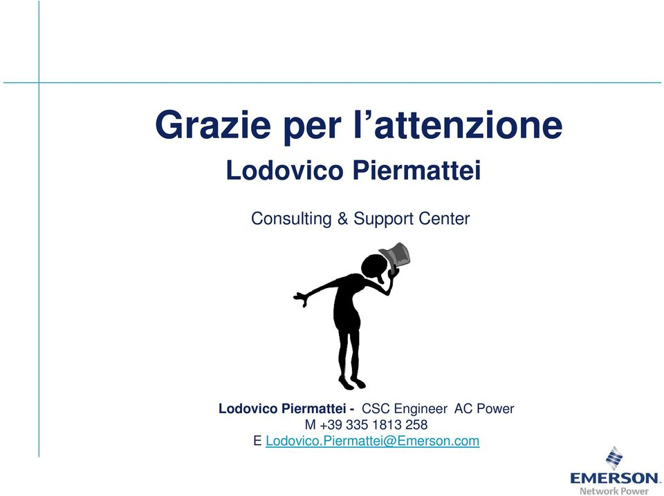 Lodovico Piermattei - CSC Engineer AC