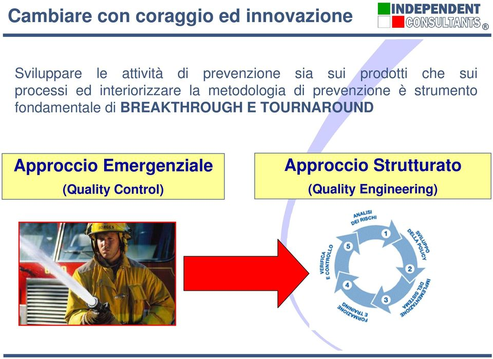 metodologia di prevenzione è strumento fondamentale di BREAKTHROUGH E