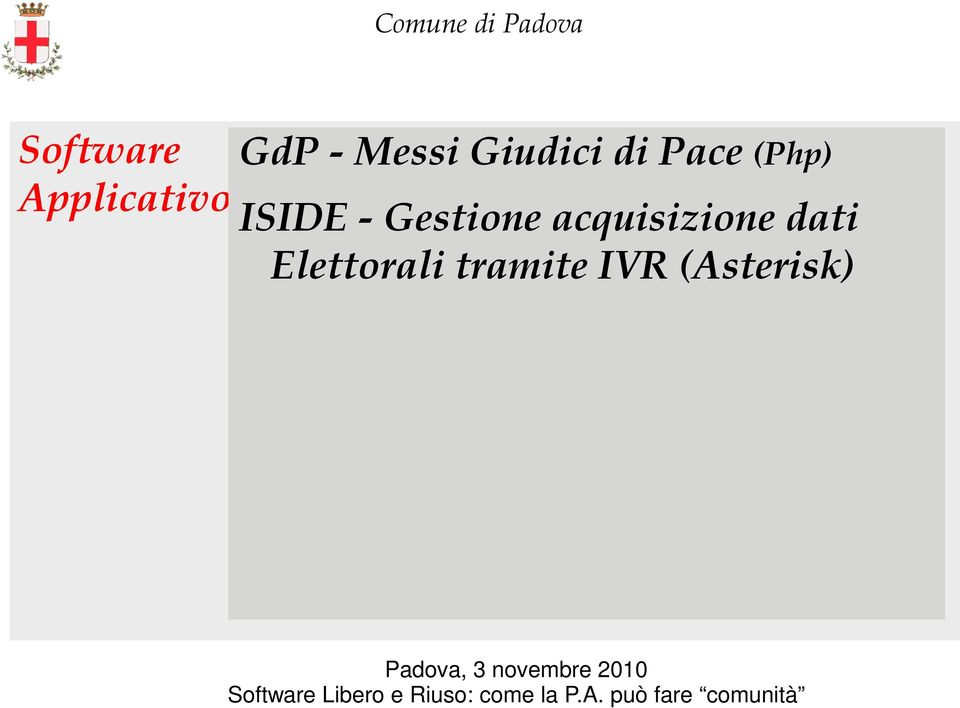 ISIDE - Gestione acquisizione