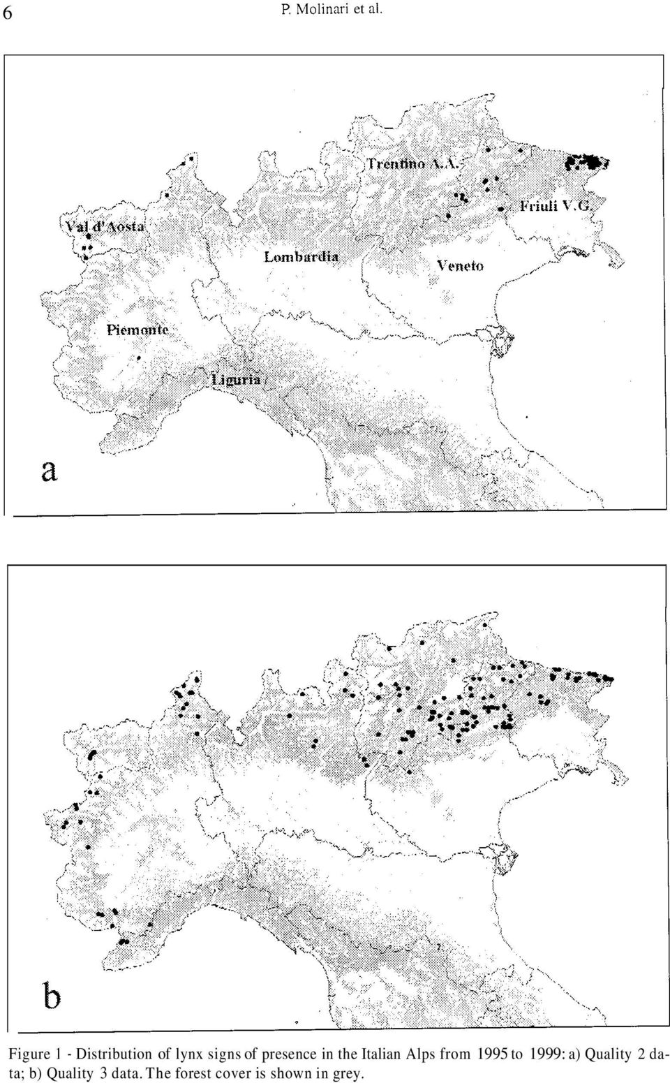 presence in the talian Alps from 995 to 999: