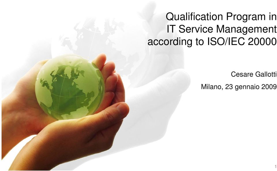 to ISO/IEC 20000 Cesare