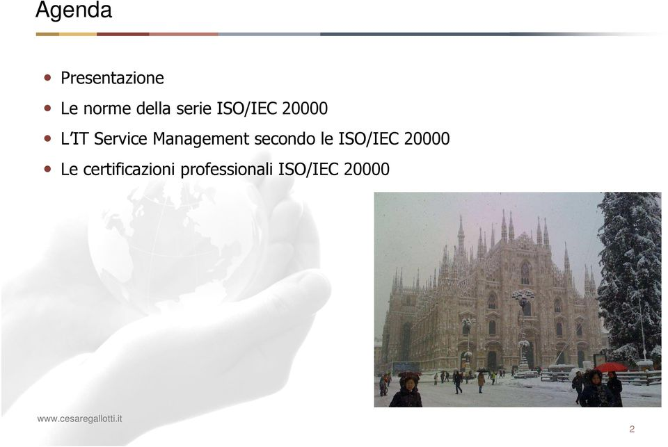 Management secondo le ISO/IEC 20000