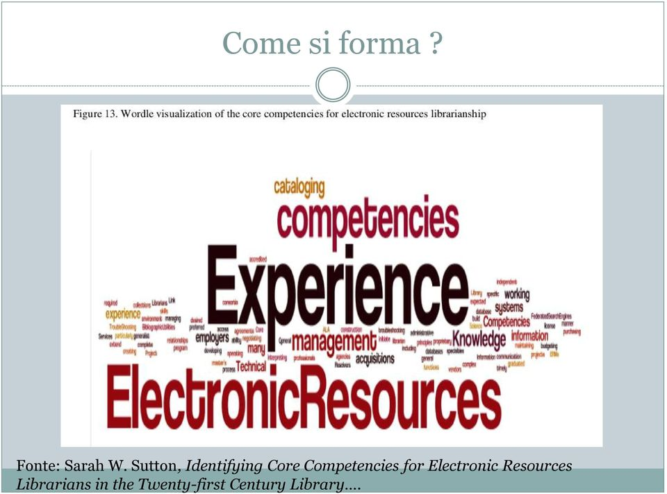 Competencies for Electronic