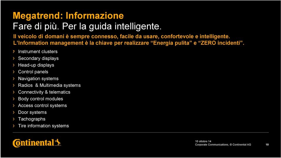 L Information management è la chiave per realizzare Energia pulita e ZERO incidenti.
