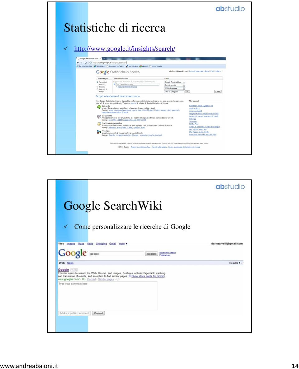 it/insights/search/ Google
