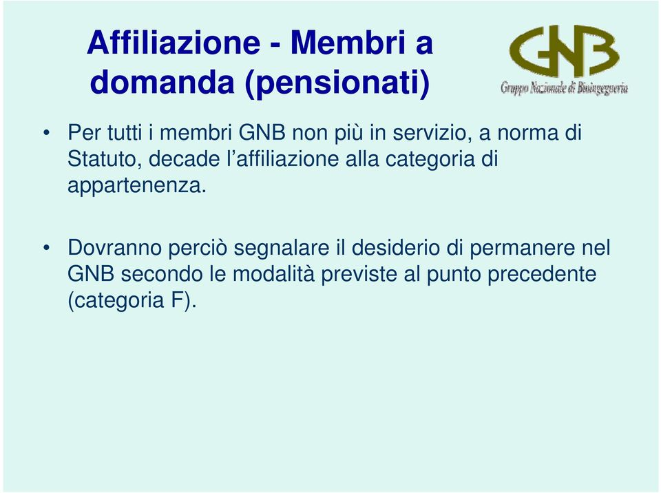 categoria di appartenenza.