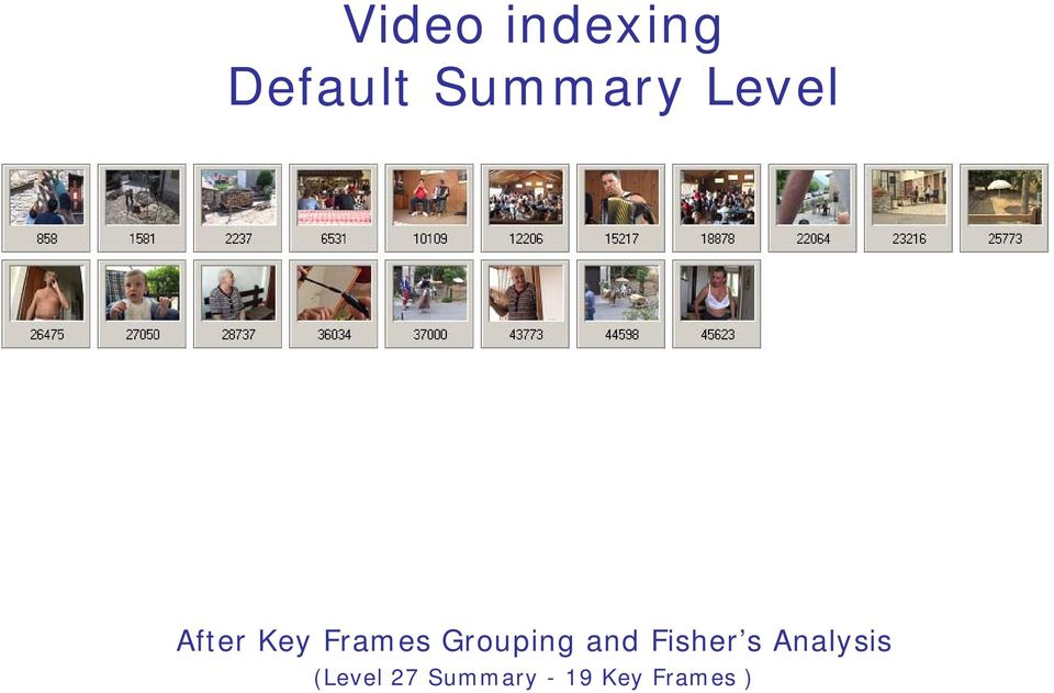 Frames Grouping and Fisher s