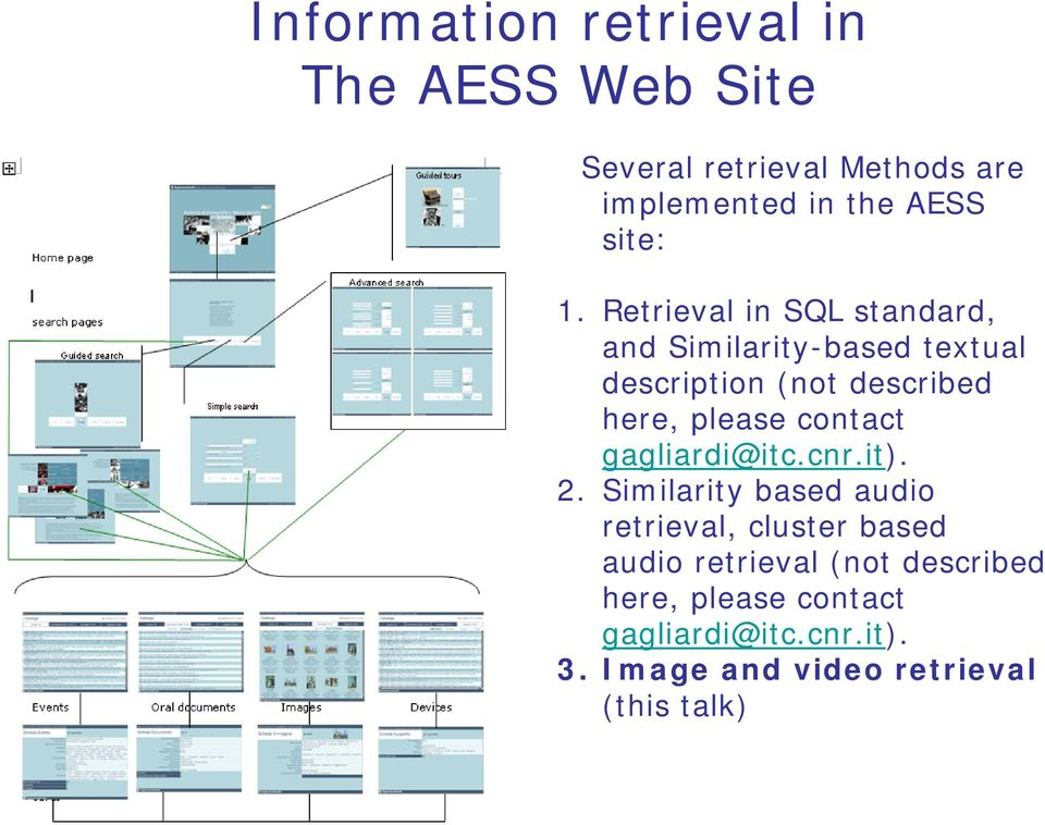 Retrieval in SQL standard, and Similarity-based textual description (not described here, please