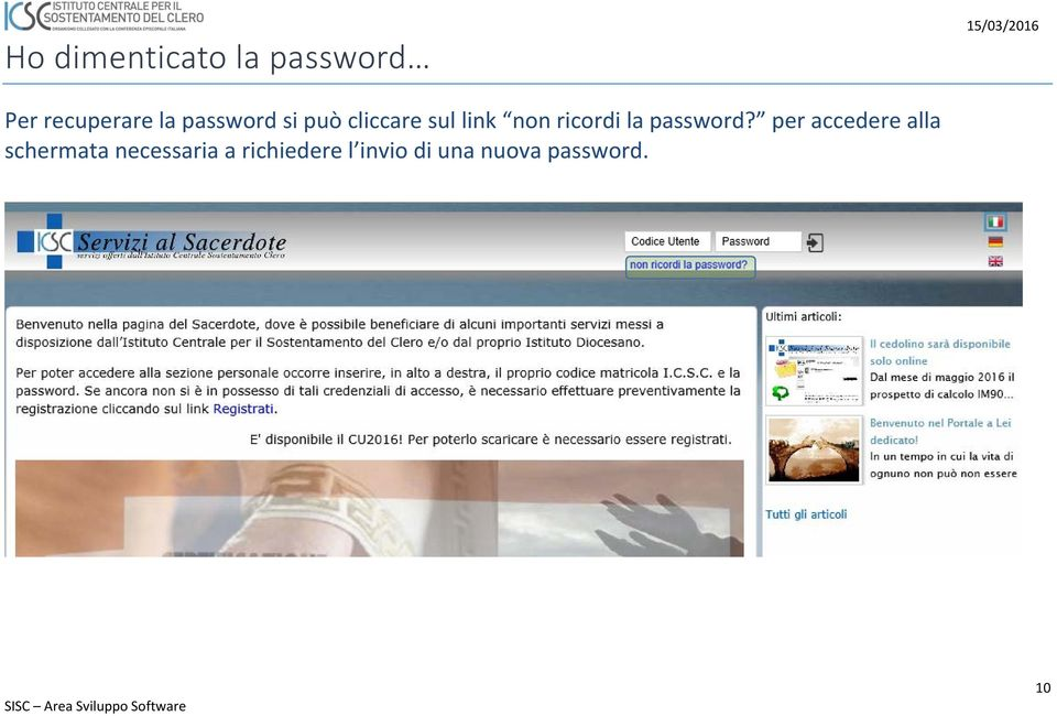 non ricordi la password?