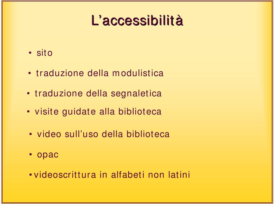 visite guidate alla biblioteca video sull uso