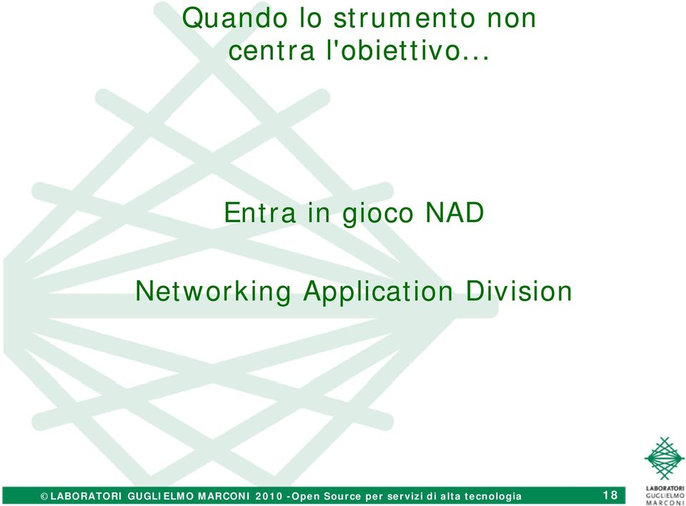 .. Entra in gioco NAD Networking Application