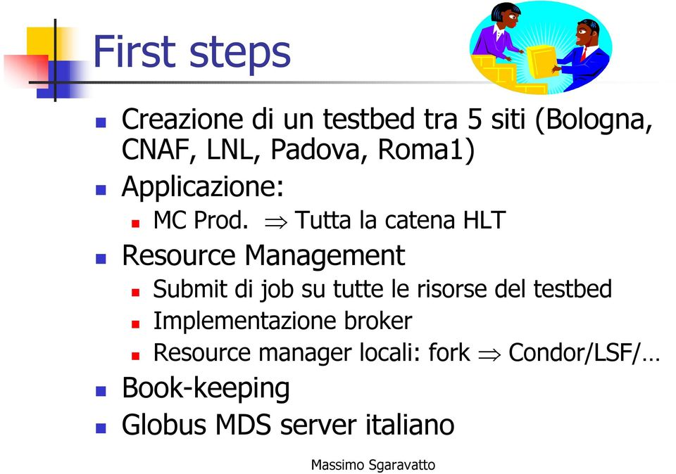 Tutta la catea HLT Resource Maagemet Submit di job su tutte le risorse