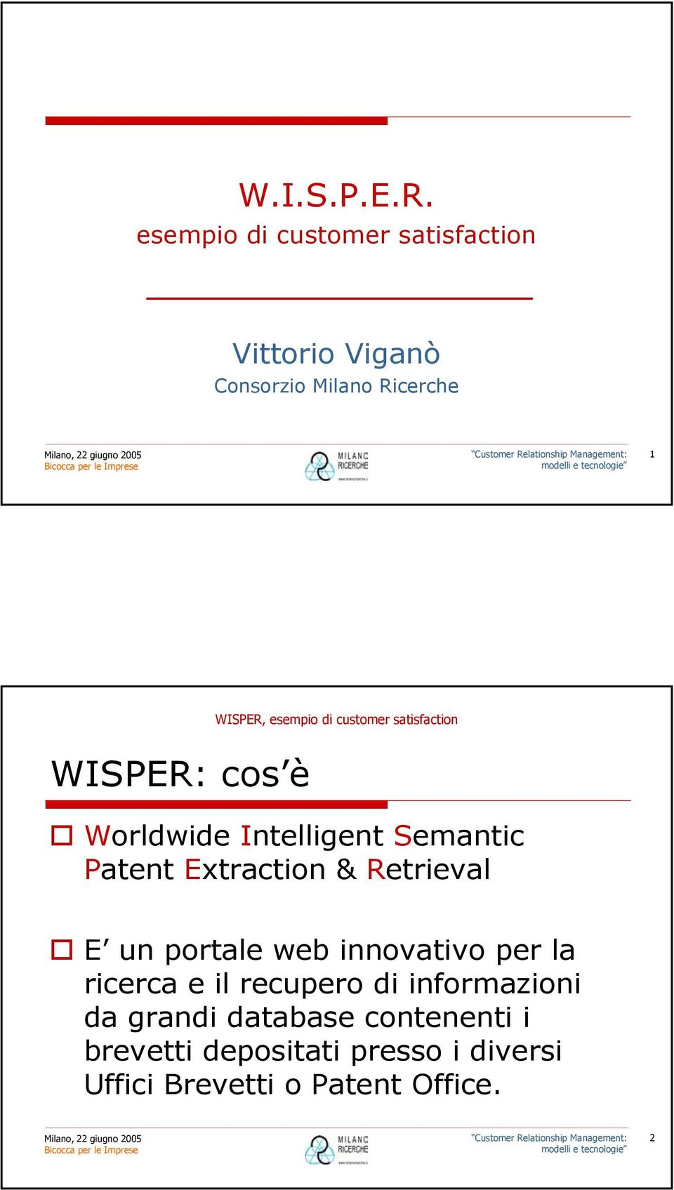 cos è Worldwide Intelligent Semantic Patent Extraction & Retrieval E un portale web