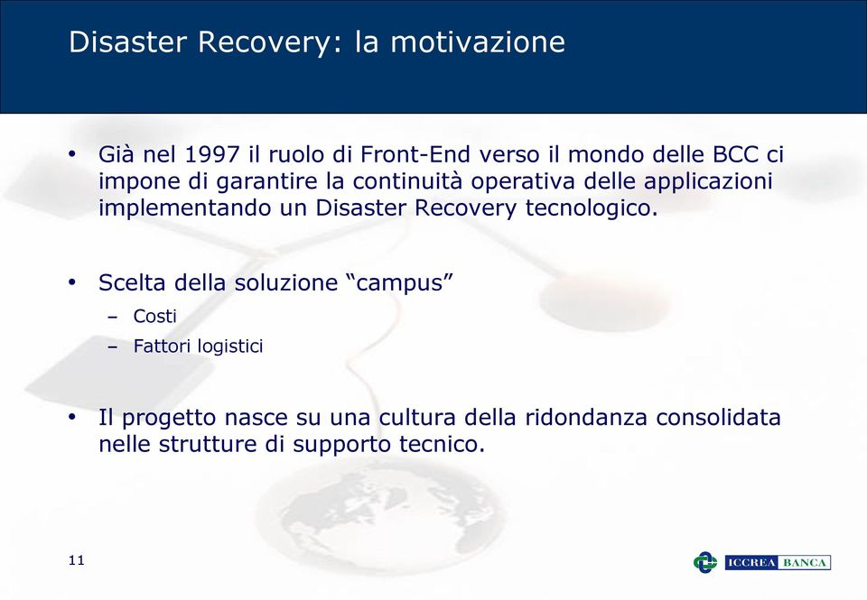 Disaster Recovery tecnologico.
