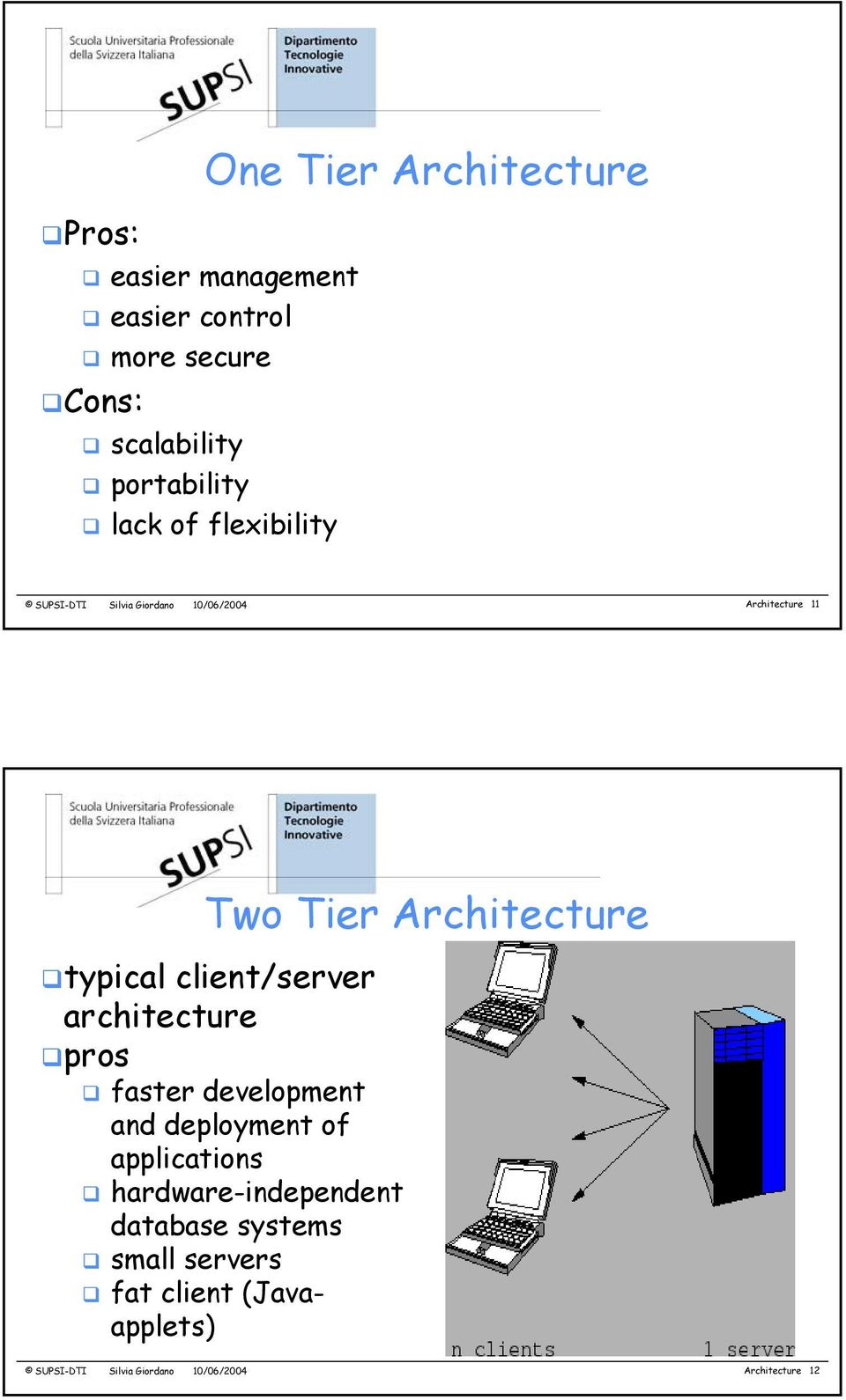 client/server architecture pros faster development and deployment of applications hardware-independent