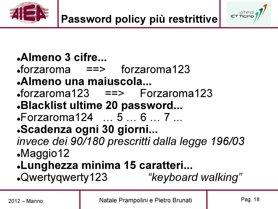 .. forzaroma123 ==> Forzaroma123 Blacklist ultime 20 password... Forzaroma124 5 6 7.