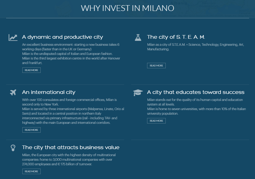 FACTS e INVEST IN MILAN www.
