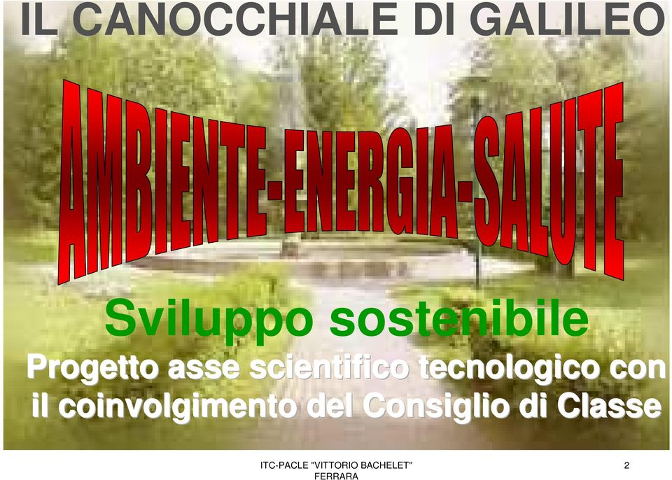 asse scientifico tecnologico con