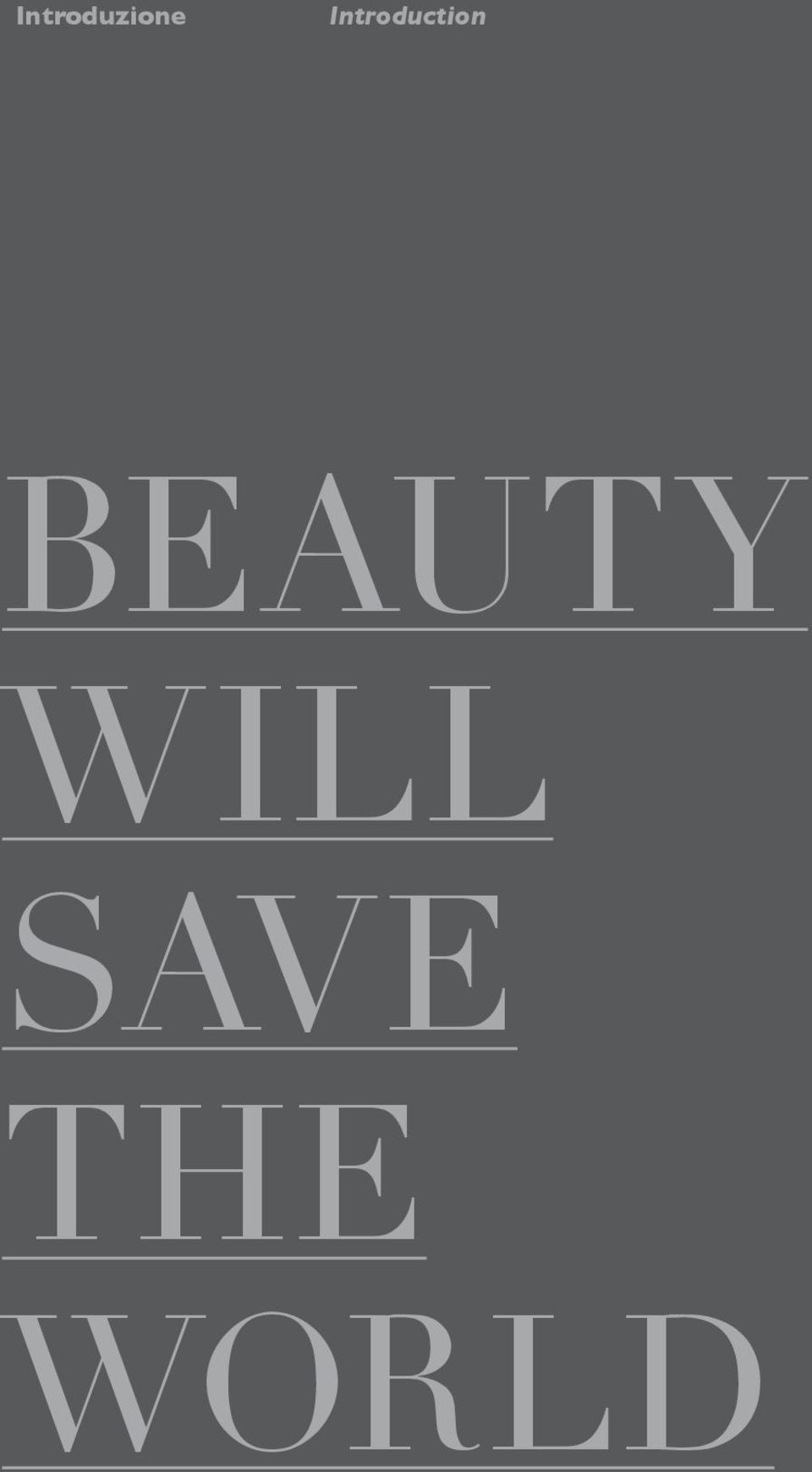 BEAUTY WILL