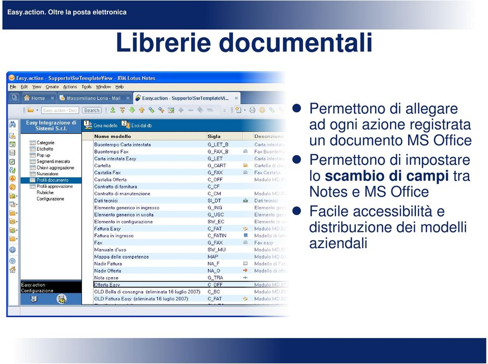 impostare lo scambio di campi tra Notes e MS Office