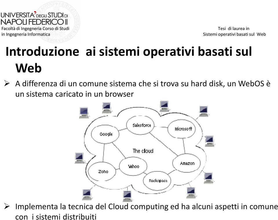 sistema caricato in un browser Implementa la tecnica del Cloud
