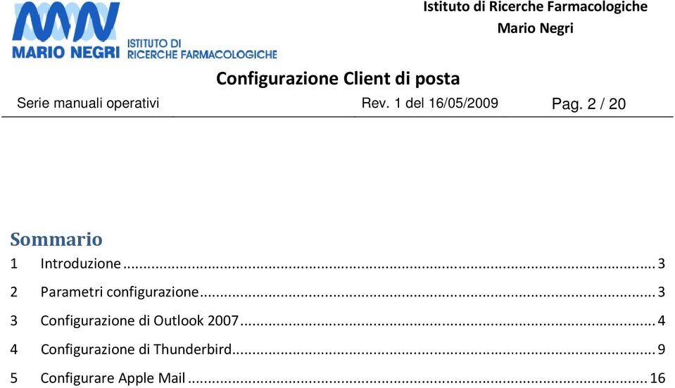 .. 3 3 Configurazione di Outlook 2007.