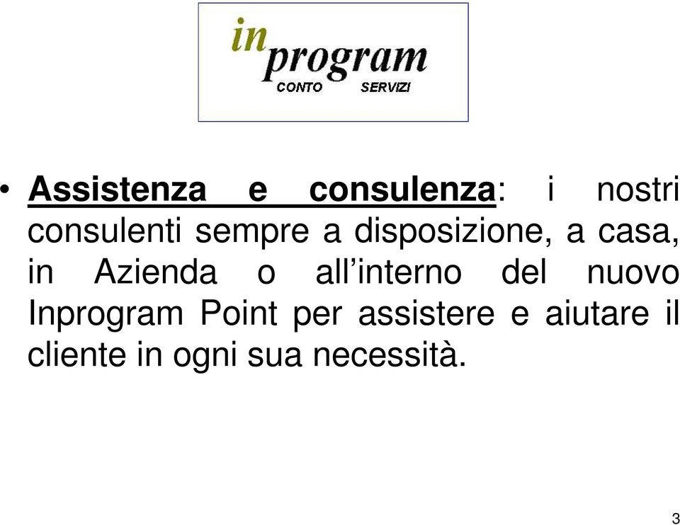all interno del nuovo Inprogram Point per