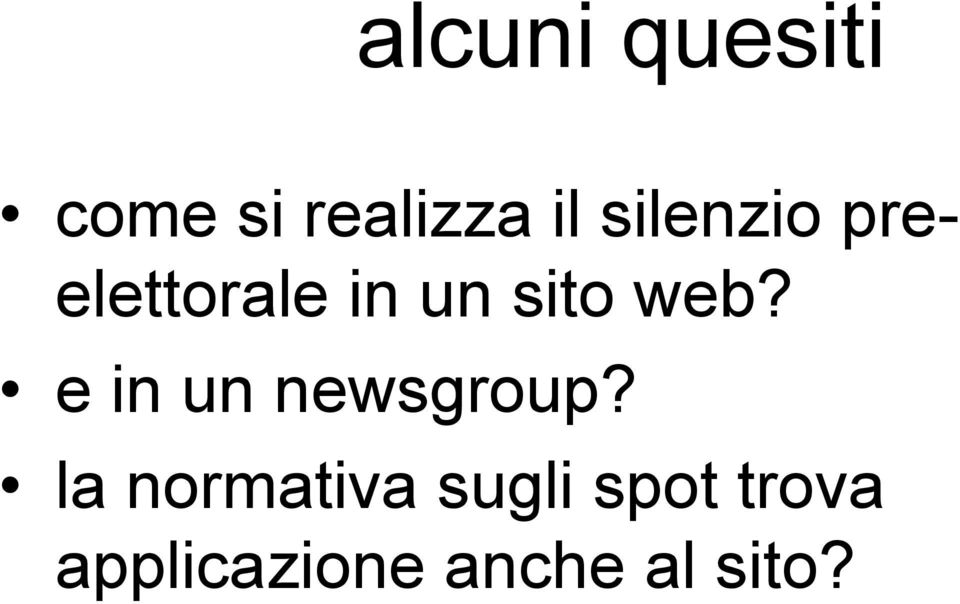 e in un newsgroup?