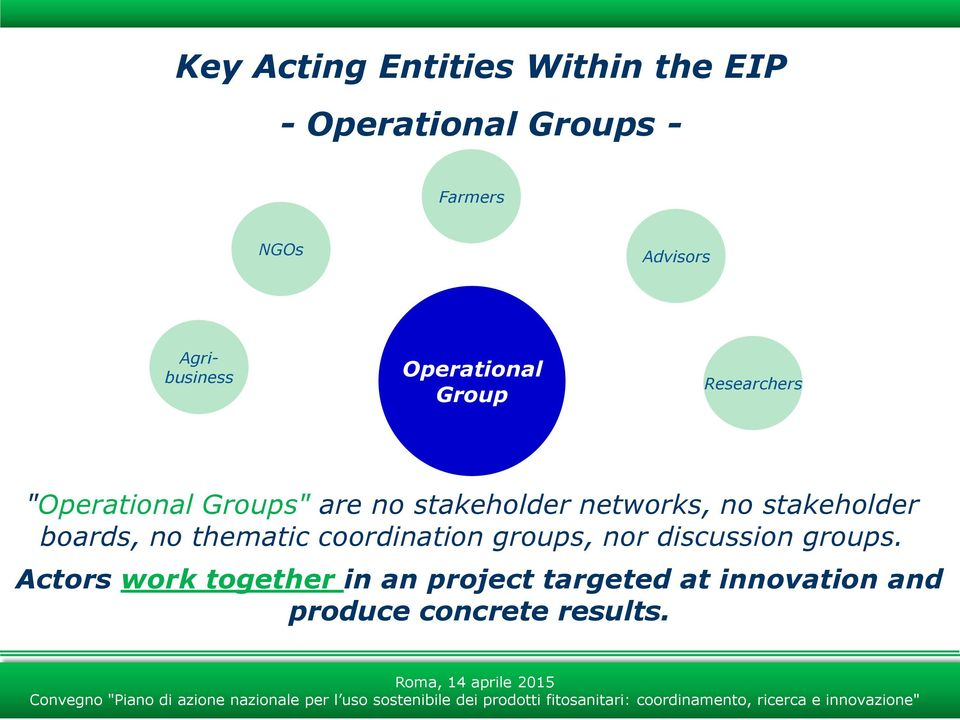 networks, no stakeholder boards, no thematic coordination groups, nor discussion