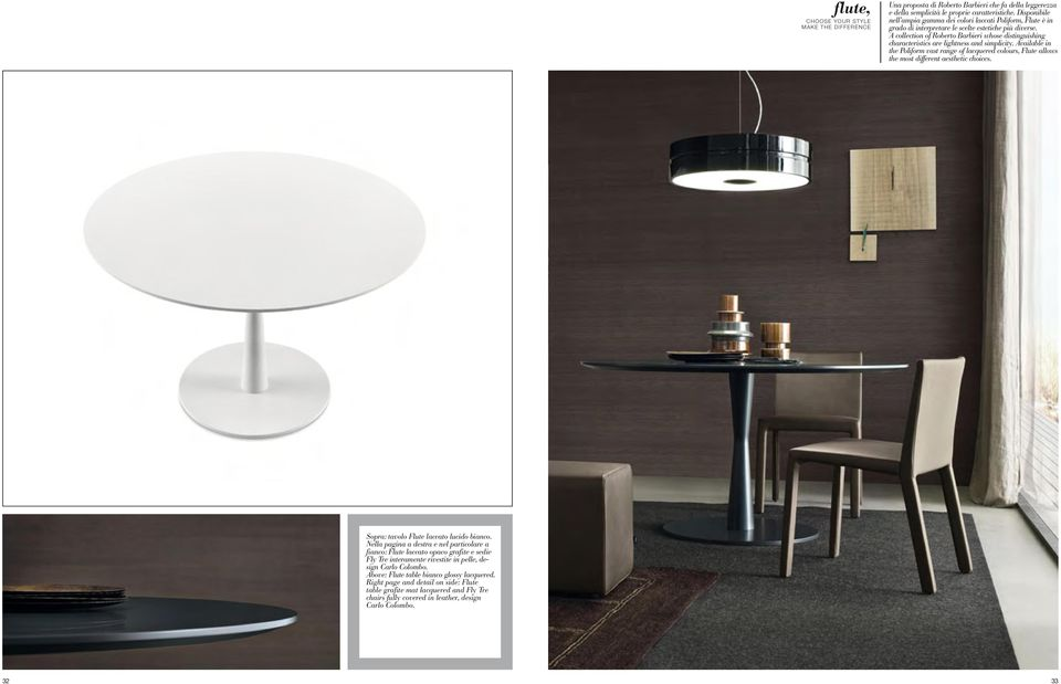 A collection of Roberto Barbieri whose distinguishing characteristics are lightness and simplicity.