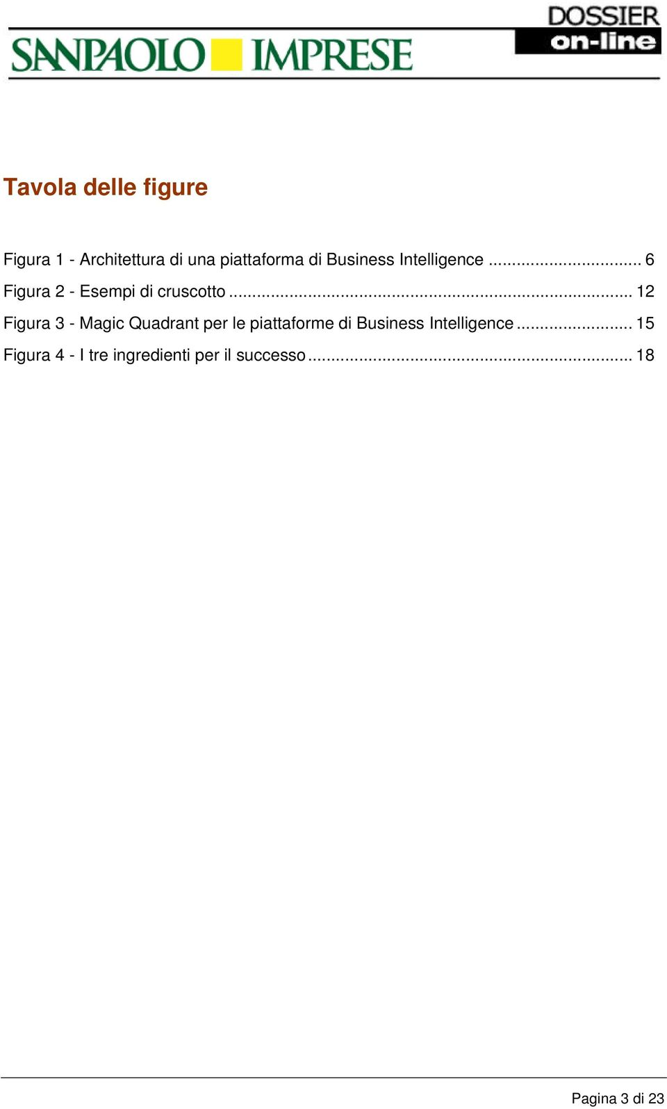 .. 12 Figura 3 - Magic Quadrant per le piattaforme di Business