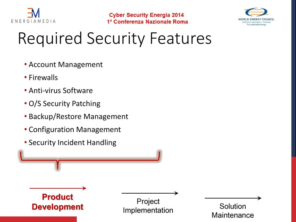 Management Configuration Management Security Incident