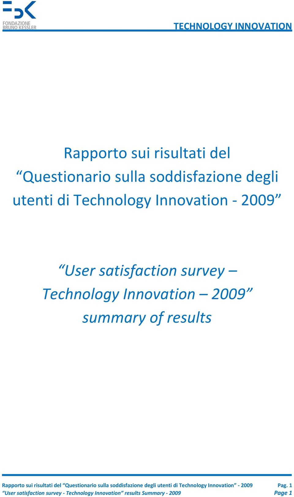 Innovation - 2009 Pag.