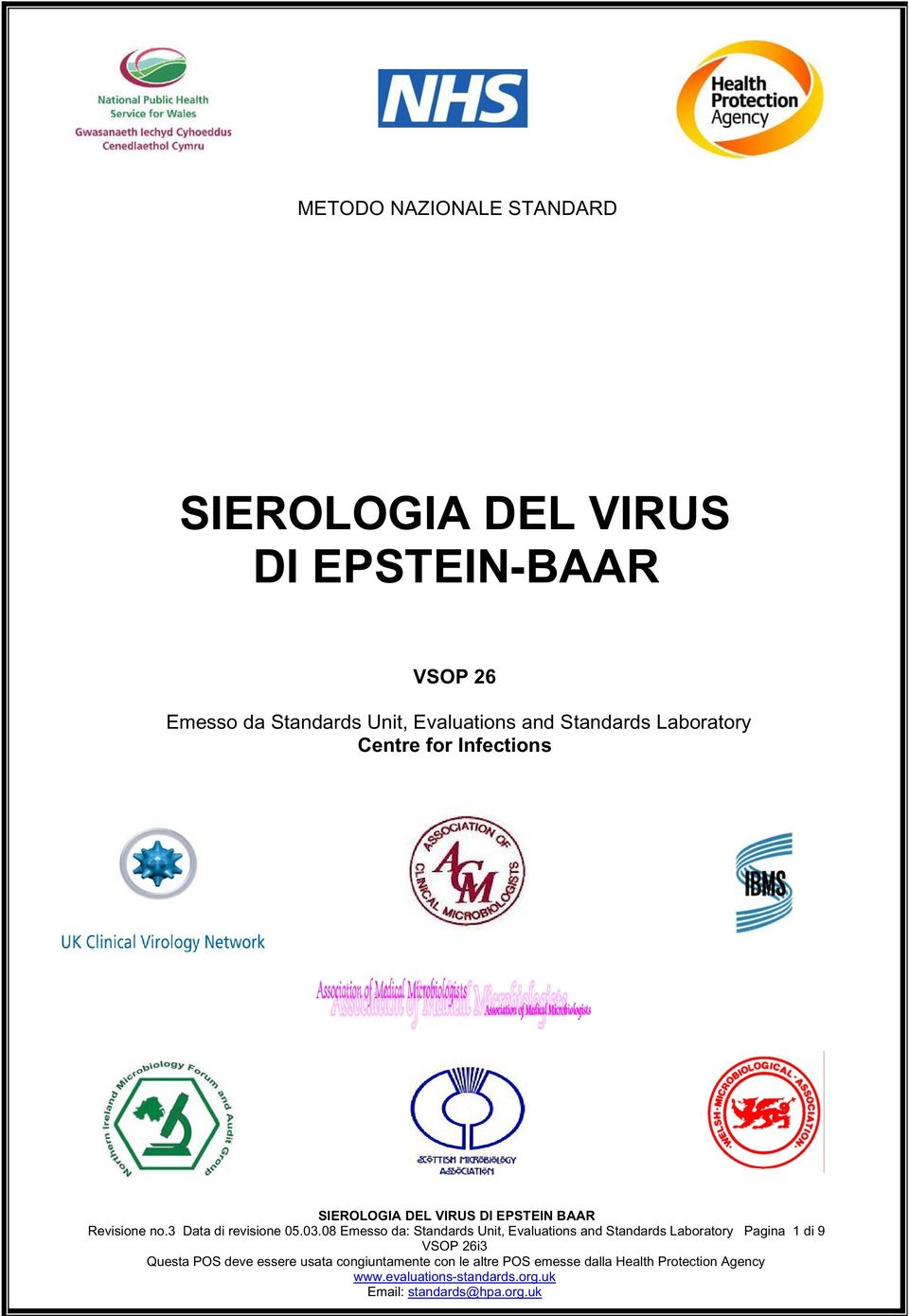 for Infections Revisione no.3 Data di revisione 05.03.