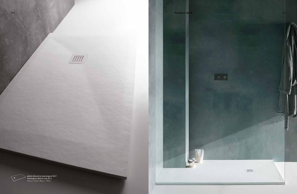 h2,5 marmogres shower tray