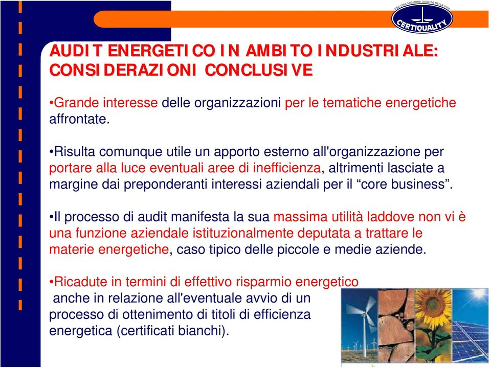 per il core business.
