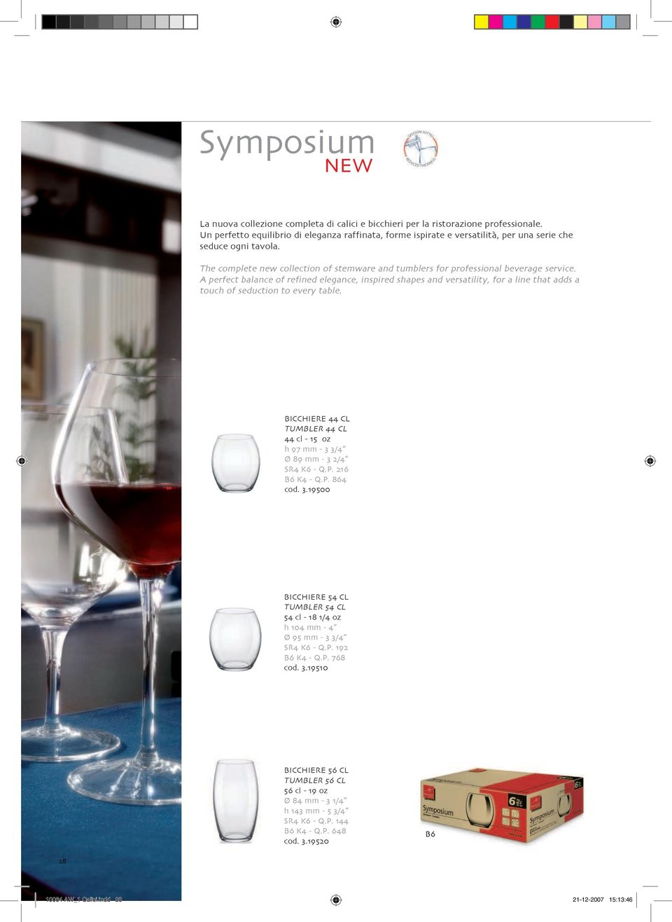 The complete new collection of stemware and tumblers for professional beverage service.