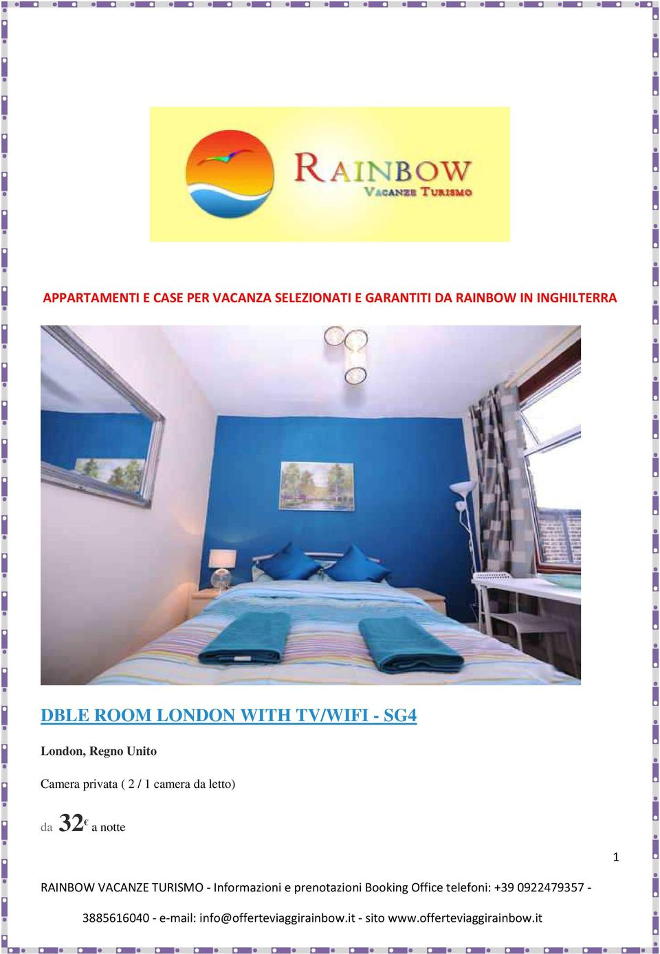 LONDON WITH TV/WIFI - SG4 London, Regno Unito