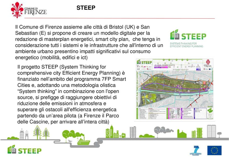 Thinking for comprehensive city Efficient Energy Planning) è finanziato nell ambito del programma 7FP Smart Cities e, adottando una metodologia olistica System thinking in combinazione con l'open