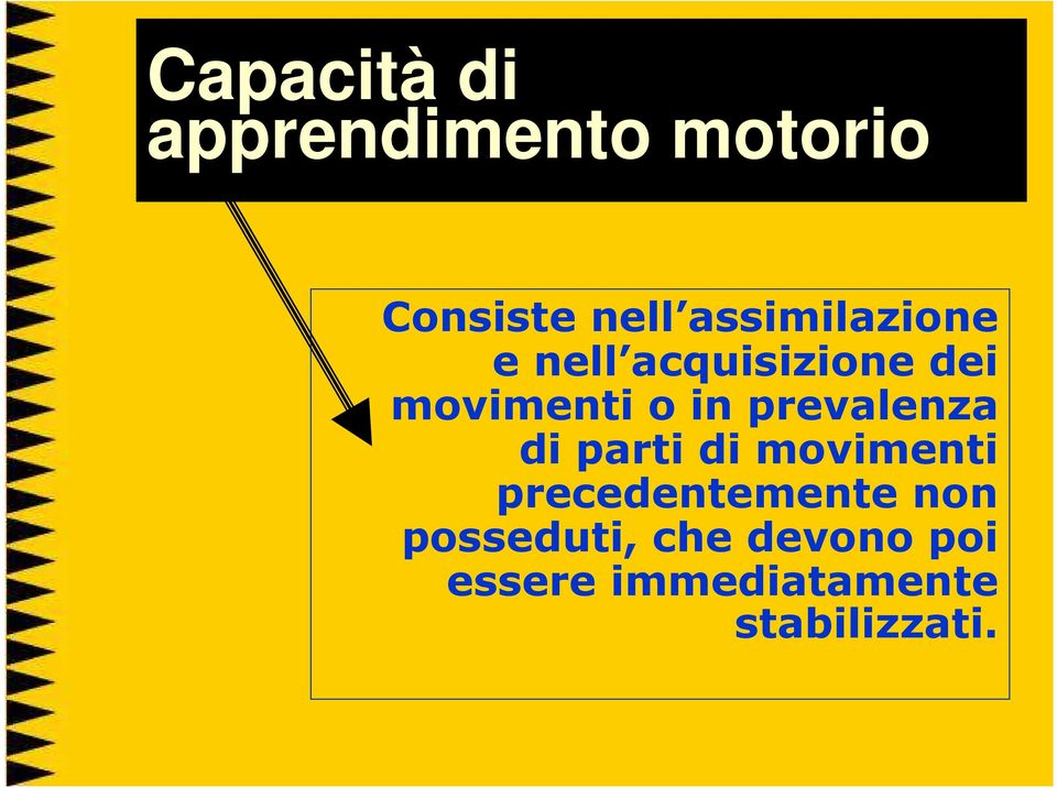 prevalenza di parti di movimenti precedentemente non